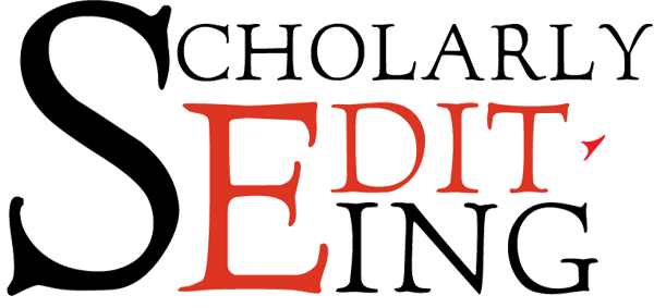 Our logo for Scholarly Editing.
